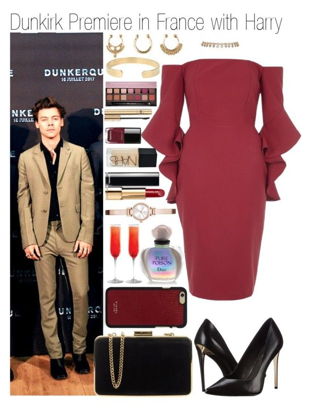 """""""• Dunkirk Premiere in France w/ Harry"""" by dianasf ❤ liked on Polyvore featuring Vianel, River Island, Rachel Zoe, MICHAEL Michael Kors, Chanel, Anastasia Beverly Hills, Charlotte Russe, Dolce&Gabbana, NARS Cosmetics and DKNY"""
