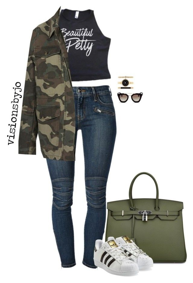 """""""Untitled #1639"""" by visionsbyjo ❤ liked on Polyvore featuring Koral, Topshop, adidas Originals, Style & Co. and Prada"""