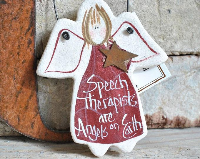 Speech Therapist Gift Salt Dough Ornament, Speech Pathologist