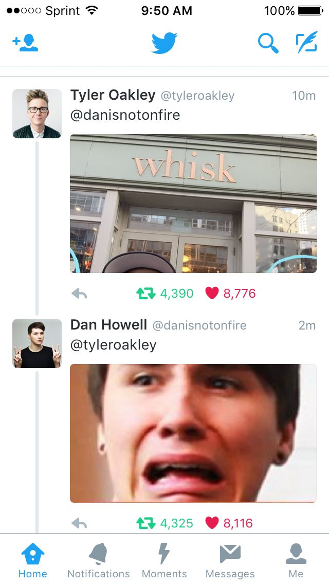 Danisnotonfire Tyler Oakley whisk Twitter tweets conversation funny youtubers collab