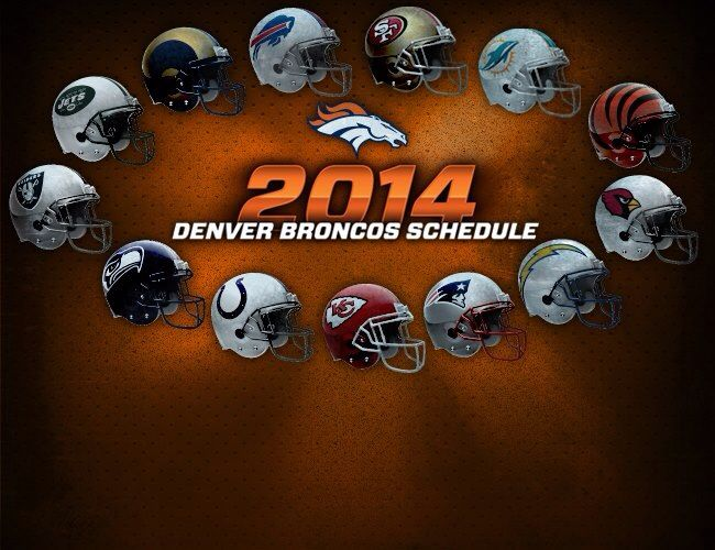 2014 Denver Broncos Schedule