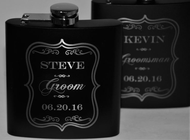 1 engraved Flasks, wedding party Groomsmen flask, Best man flask, Custom engraved 6oz flask., flask, personalized flask, by MemoriesMadeCustom on Etsy