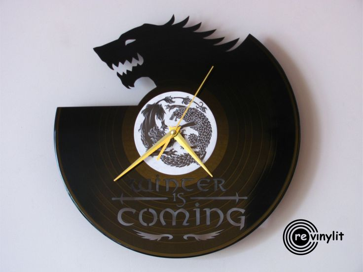 Vinyl record wall clock Game of Thrones Game of by Revinylit
