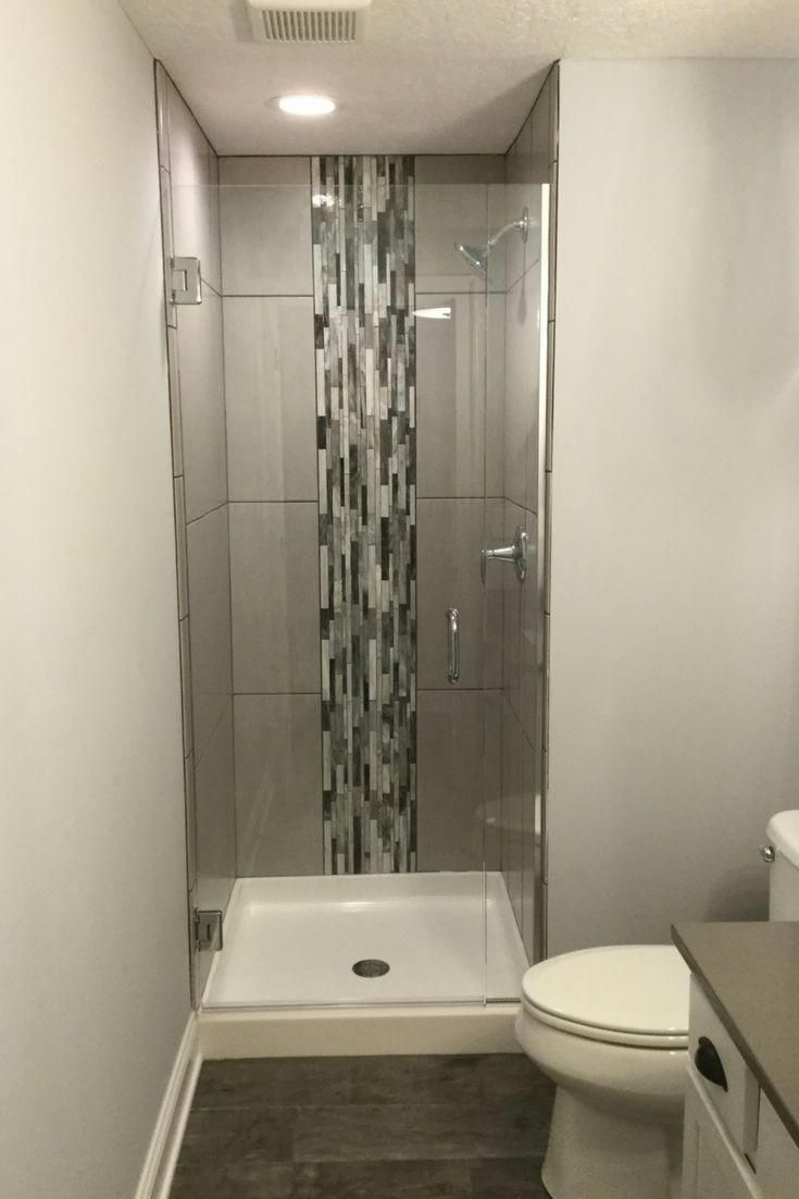 Love This Idea To Reinvigorate A Small Stand Up White Fibergl Shower With Tile Pattern Vertical Border And Frameless Gl