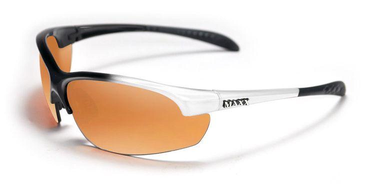 Maxx Sunglasses Domain White Frame HDP Amber Lenses