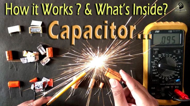 How a Capacitor works in a circuit / Both in AC & DC current - YouTube