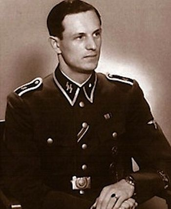Rochus Misch (29 July 1917 – 5 September 2013) was a German Oberscharführer (senior squad leader) in the 1st SS Panzer Division Leibstandarte SS Adolf Hitler (LSSAH) during World War II. He served as a courier, bodyguard and telephone operator for German leader Adolf Hitler from 1940 to 1945. He was the last surviving occupant of the Führerbunker when he died in 2013.