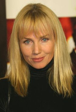 Blonde Actress Rebecca De Mornay Poses Wearing A Black