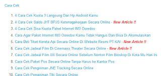 Cara Membuat Site Map Atau Daftar Isi Di Blogcara ngeblog di http://www.nbcdns.com