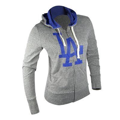 Fanzz Sports Apparel,Los Angeles Dodgers MLB Womens Teagan Hooded Sweatshirt (Heather Gray) NFL, NBA, MLB Apparel, NFL, MLB, NBA Jerseys and Merchandise, NHL Shop | Fanzz