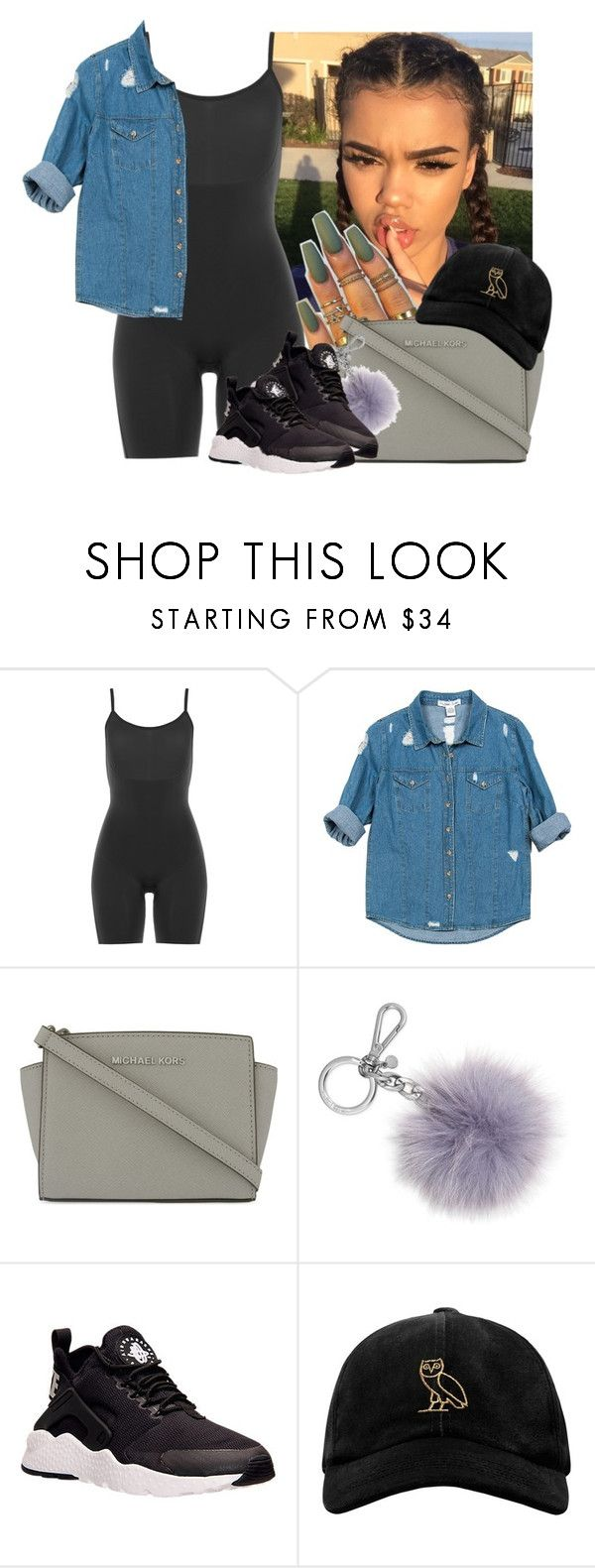 """""""✨✌️"""" by jezellee ❤ liked on Polyvore featuring SPANX, Sans Souci, MICHAEL Michael Kors, Michael Kors, NIKE and October's Very Own"""
