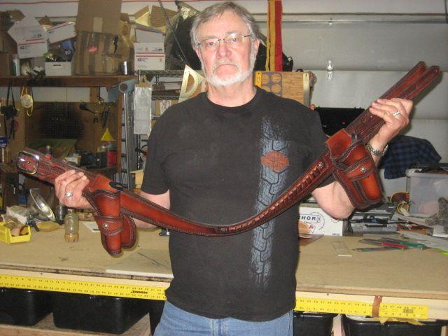 Student Max Richardson and his very fine rig. www.slickbald.com #slickbald #leather #SASS
