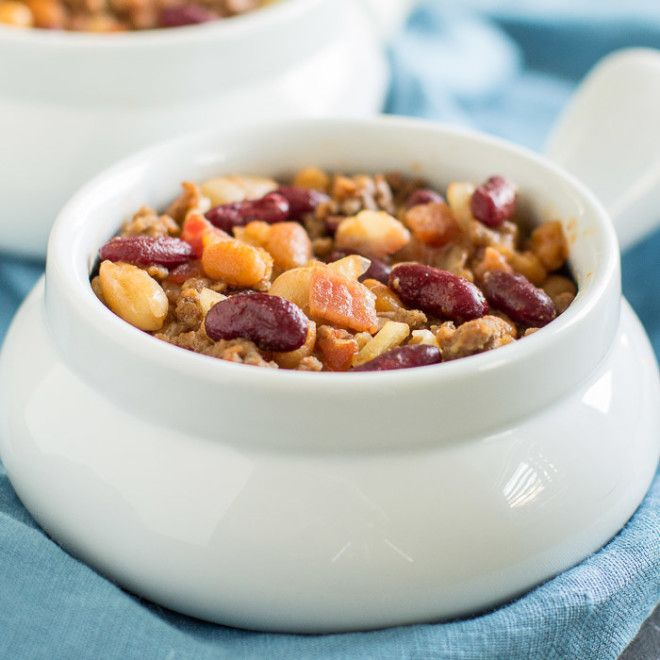 Looking for a hearty dinner option or an easy potluck side? Slow Cooker Calico Beans are the answer and your champion of simple, delicious dishes.