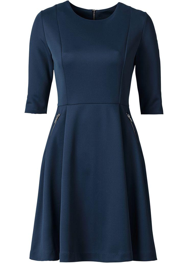 Abito effetto neoprene Blu scuro - BODYFLIRT è ordinabile nello shop on-line di bonprix.it da ? 31,99. Grazioso abito della BODYFLIRT con gonna svasata. ...