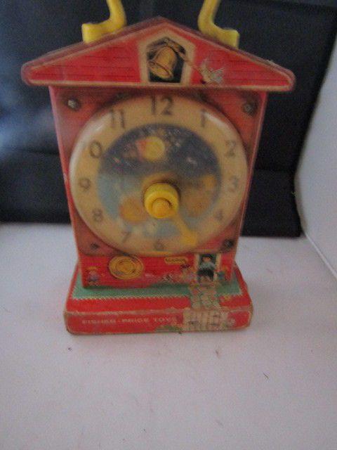 Vintage Fisher Price Music Box Teaching Clock #FisherPrice
