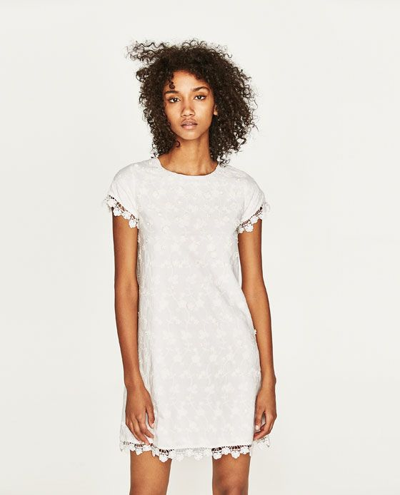 Image 5 of EMBROIDERED SHIFT DRESS from Zara