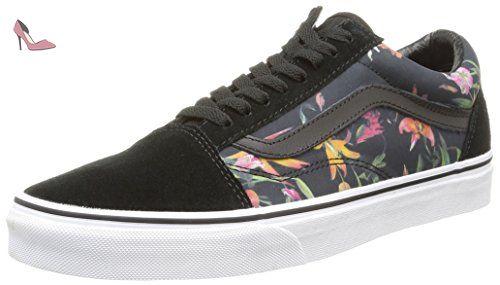 Vans U OLD SKOOL BLACK BLOOM, Sneakers Basses mixte adulte, Noir, 36 - Chaussures vans (*Partner-Link)
