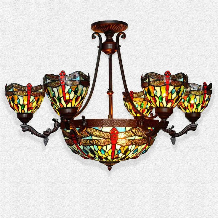 740.00$  Buy here - http://aliq4s.worldwells.pw/go.php?t=32736210517 - Tiffany Suspension Lamp European Style Classic Dragonfly Home Decor Art Stained Glass Beads Living Room Restaurant Pendant Light