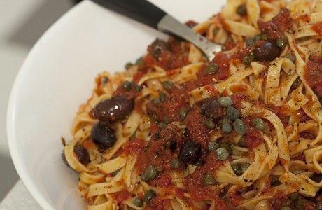 Pasta Puttanesca Receptbild - Allt om Mat