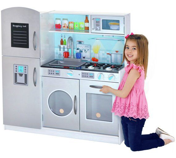 Buy Chad Valley Deluxe Large Wooden Toy Kitchen at Argos.co.uk, visit Argos.co.uk to shop online for Cooking role play, Shop, cook, clean and build, Role play, Toys