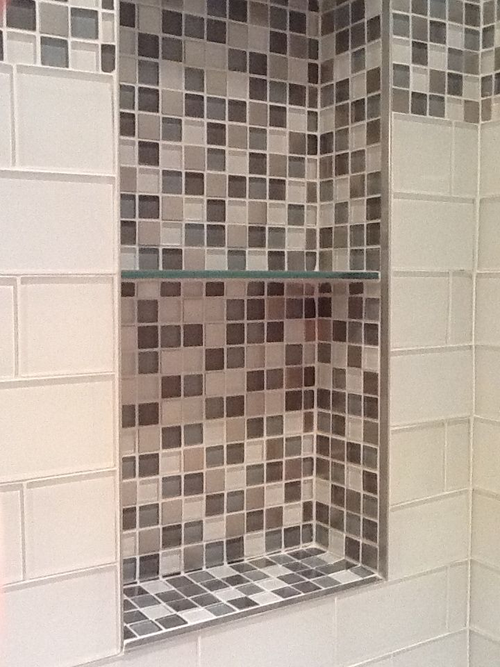 56 best images about seaside bathroom on pinterest washlet waterfall faucet and shower niche Bathroom designs using mosaic tiles