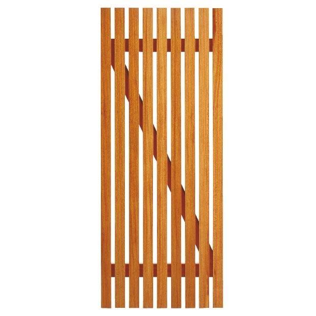 Porte de service clairevoie bois exotique for Porte de service bois exterieur