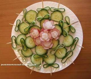 Развлекательный кулинаризм: Фигурная нарезка овощей