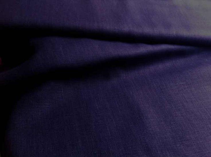 Lin pur • uni prune • Tissu Lin • 001128 : Tissus Habillement, Déco par mme-mollipolli