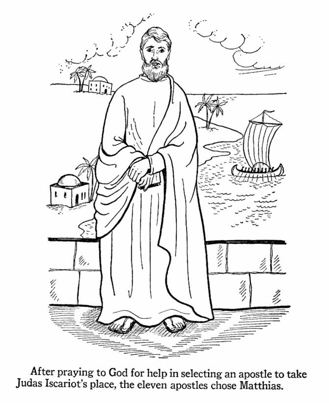apostles coloring pages and bible printables
