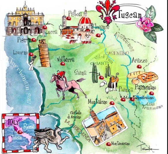 Die besten 25 Map of tuscany italy Ideen auf Pinterest  Karte