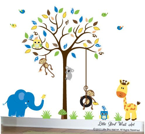 Wall Decal Tree Baby Wall Decal Nursery By Littlebirdwalldecals, $129.00 Part 76