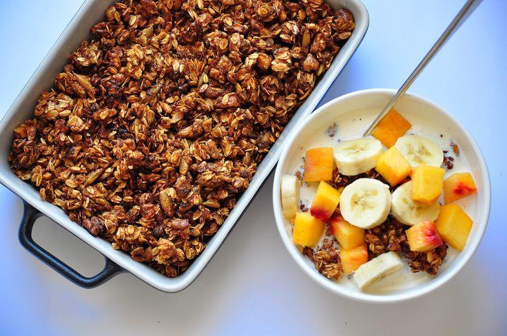 Muzlu Seftalili Granola / Peach & Banana Granola | Teaspoon of Cinnamon
