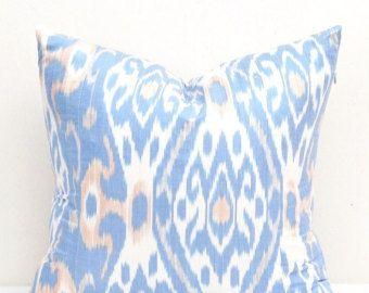 Green White Ikat pillow Ikat pillows Ikat by DecorIkatPillows