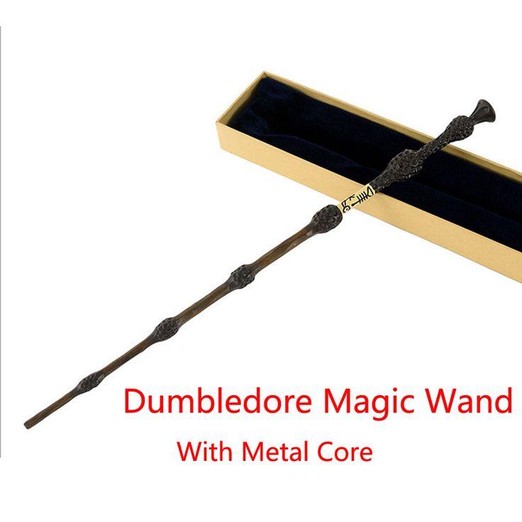 New Metal Core Albus silente Bacchetta Magica/Poteres Magico Bacchette/Contenitore di Regalo di Imballaggio di Alta Qualità senza luce LED