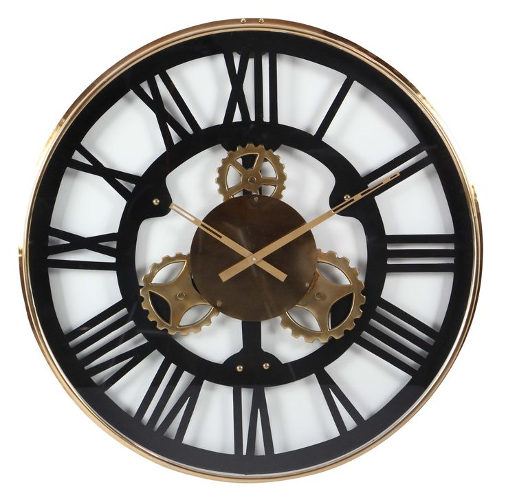 """GwG Outlet Stainless Steel Wall Clock 32""""D 43514 - Wall Clocks - Wall Decor"""