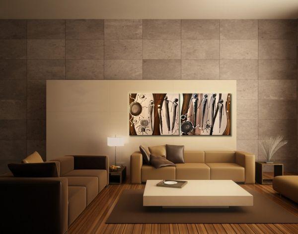 A színek összhangja - hangulatos otthonod tökéletes dekorációja lehet egy festett vászonkép.