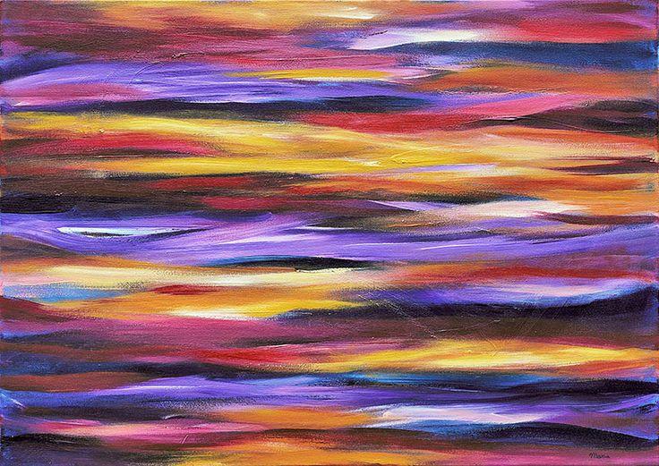 Purple Waves 1 - 2013, prijs op aanvraag Acryl | Op doek