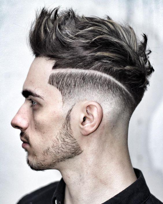 cortes-de-pelo-corto-hombre-degradado-raya