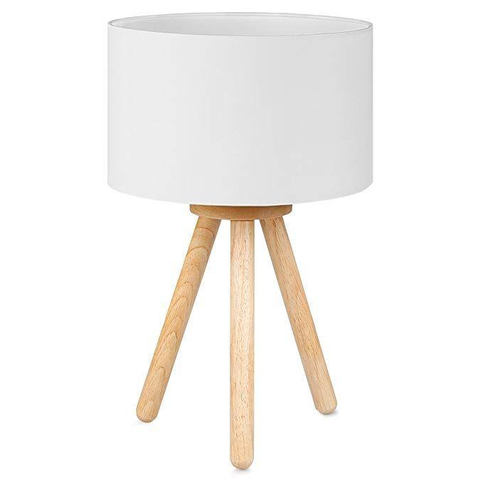 Tomons Nachttischlampe Minimalistischer Stil Sanftes Licht Lampenschirm Aus Polyester Hohe 39 Cm Geeignet Fu Nachttischlampe Lampen Lampenschirm Aus Stoff