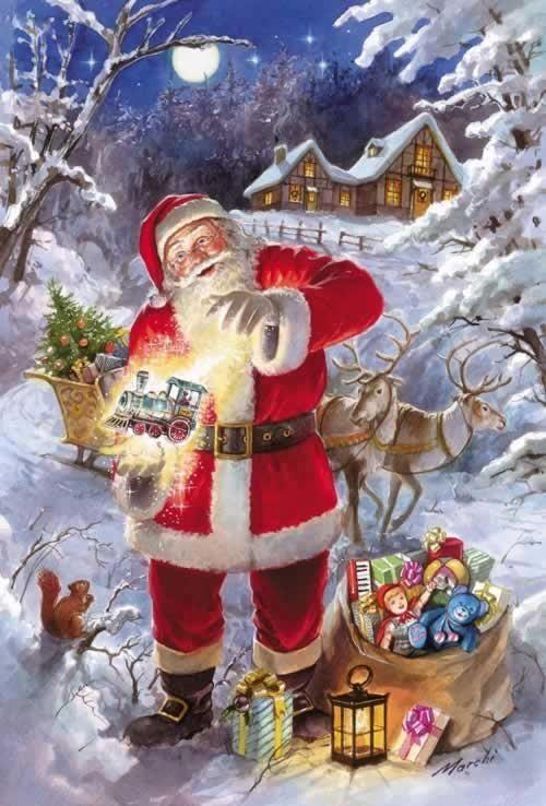 TARJETAS DE NAVIDAD ||| Santa Claus