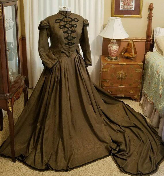 Viktorianischen Hektik Kleid Tag Bürgerkrieg von OldGLoriEstateSale