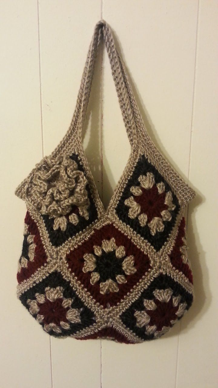 #Crochet 13 square granny square Handbag Purse #TUTORIAL #163