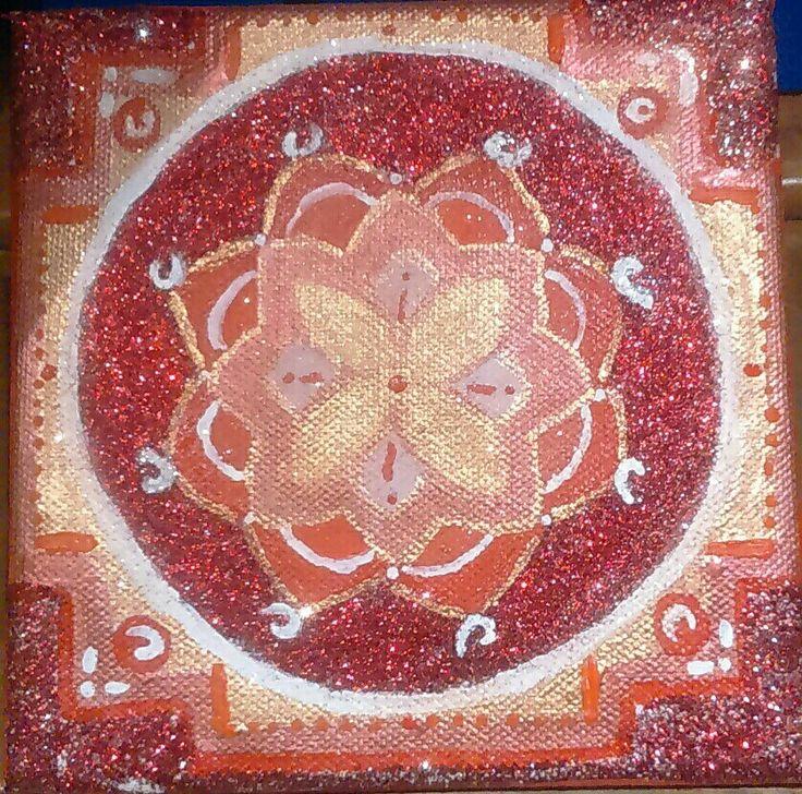 Mandala art:red passion