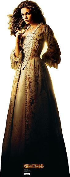 Golden dress worn by Keira Knightley as Elizabeth Swann in Pirates of the Caribbean: The Curse of the Black Pearl