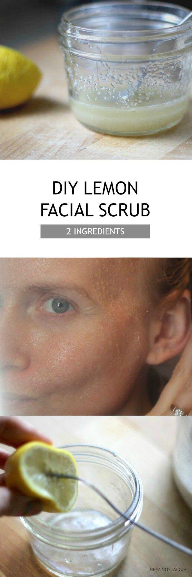 DIY 2 Ingredient Lemon Sugar Facial Scrub