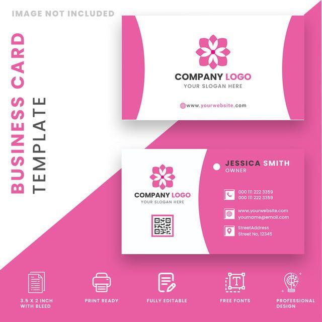 Reka Bentuk Template Kad Salon Dan Spa Perniagaan Free Business Card Templates Spa Business Cards Cleaning Business Cards