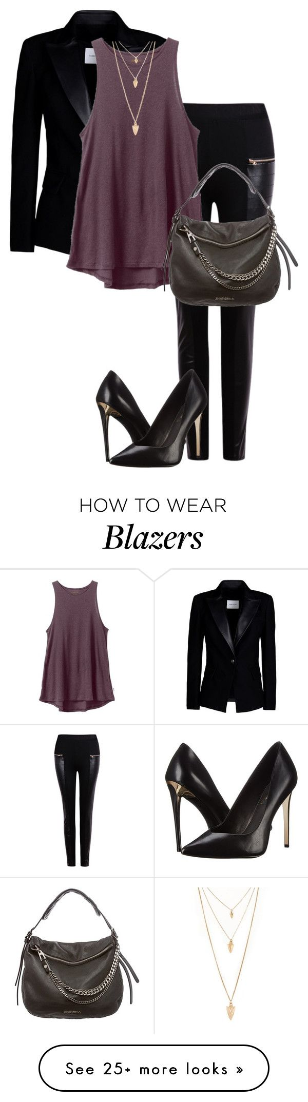 """Untitled #584"" by indirareeves on Polyvore featuring Pierre Balmain, RVCA, Rachel Zoe, Jimmy Choo, Forever 21, women's clothing, women, female, woman and misses"