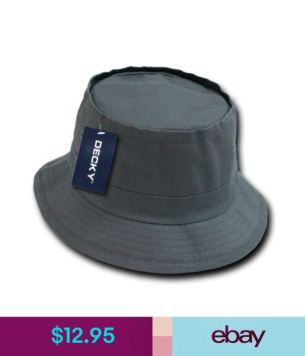 2751411d248 Hats Charcoal Gray Fisherman s Fishing Sun Bucket Safari Boonie Cap Hat  Caps Hats S M  ebay  Fashion