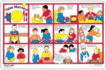 Children S Table Manners And Other Manners They Should
