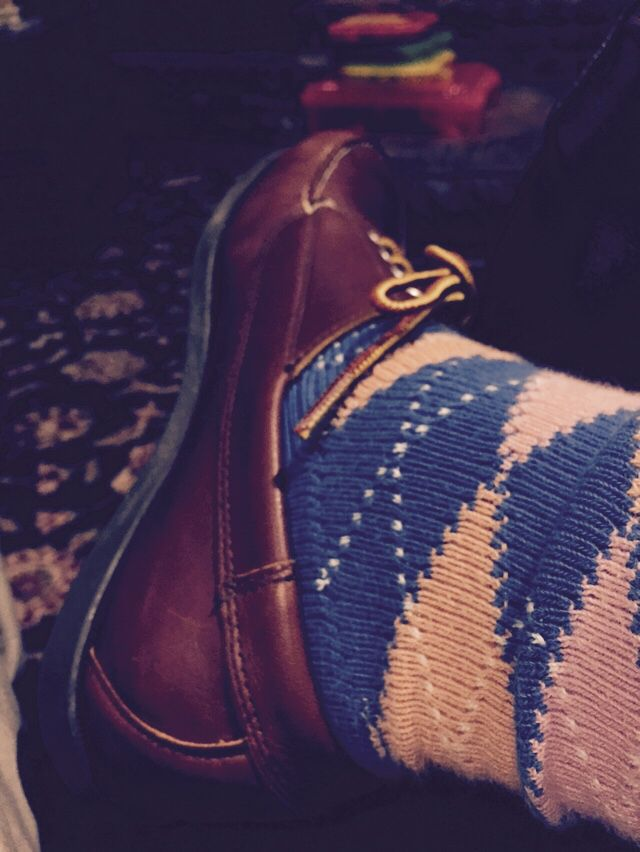 LL Bean blucher and BB argyle socks for a Friday night at home.
